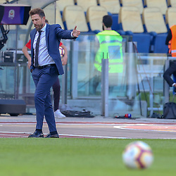 October 20, 2018 - Rome, Rome, Italy - 20th October 2018, Stadio Olimpico, Rome, Italy; Serie A Football, Roma versus Spal; coach Eusebio Di Francesco of Roma reacts dejected after Kevin Bonifazi of Spal scored a goal for the 0-2 in the 56th minute (Credit Image: © Giampiero Sposito/Pacific Press via ZUMA Wire)