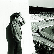 Teenage boy in stadium