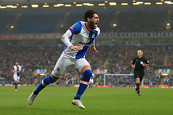 19th February 2017 - FA Cup - 5th Round - Blackburn Rovers v Manchester United - Danny Graham of Blackburn celebrates after scoring their 1st goal - Photo: Simon Stacpoole / Offside.