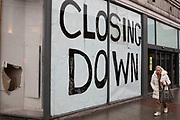 Closed down shop in Camden Town on 14th January 2020 in London, England, United Kingdom. With much economic uncertainty in the UK following Brexit and with more competition from online retailers, the high street is facing difficult times.