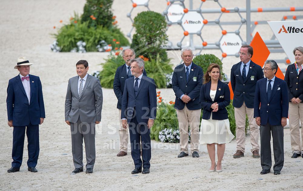 Officials - Show Jumping Final Four - Alltech FEI World Equestrian Games™ 2014 - Normandy, France.<br /> © Hippo Foto Team - Jon Stroud<br /> 07/09/2014