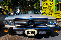 A Mercedes Benz with Key West plate, Key West, Florida Keys, Florida USA