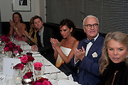 VICTORIA BECKHAM; MANOLO BLAHNIK, Dinner hosted by editor of British Vogue, Alexandra Shulman in association with Net-A-Porter.com in honour of 25 years of London Fashion Week and Nick Knight. Caprice. London.  September 21, 2009