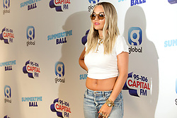 Rita Ora on the red carpet of the the media run during Capital's Summertime Ball. The world's biggest stars perform live for 80,000 Capital listeners at Wembley Stadium at the UK's biggest summer party.