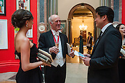KATHERINE SCHAEFER; CHARLES SAUMERAZ SMITH; RICHARD CHANG,, Royal Academy of Arts Annual dinner. Piccadilly. London. 29 May 2012.