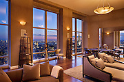 The home of Yankee captain Derek Jeter at 845 UN Plaza in the Trump World Tower, New York City.