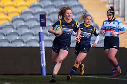 Paige Farries of Worcester Warriors Women runs in her side's second try - Mandatory by-line: Nick Browning/JMP - 09/01/2021 - RUGBY - Sixways Stadium - Worcester, England - Worcester Warriors Women v DMP Durham Sharks - Allianz Premier 15s