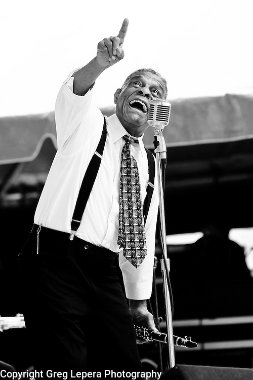 Charlie Gabriel of New Orlean's Preservation Hall Jazz Band at the Jacksonville Jazz Festival.