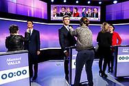 19012017. Studio de Saint Cloud. Plateau de l'émission diffusée par France 2. 3ème débat de la Primaire de la Gauche à l'élection présidentielle 2017.
