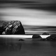 Arch Rock - Long Exposure - Bruhel Point - Westport, CA - Infrared Black & White