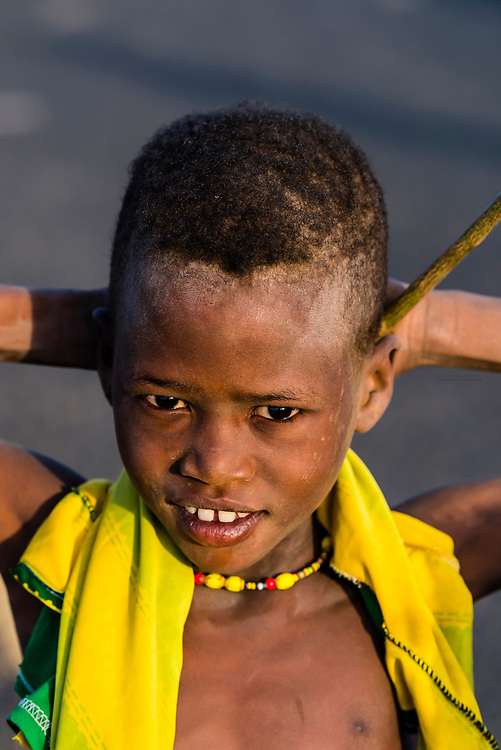 Dassanach tribe boy, Omo Valley,  Southern Nations Nationalities and People's Region, Ethiopia.