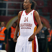 Galatasaray MP's Sylvia FOWLES  during their EuroLeague Women Basketball League game 2 match Galatasaray MP between Fenerbahce at the Abdi Ipekci Arena in Istanbul at Turkey on Friday, February, 05, 2011. Photo TURKPIX