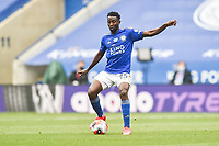 LEICESTER, ENGLAND - JULY 04: Wilfred Ndidi of Leicester City controls the ball during the Premier League match between Leicester City and Crystal Palace at The King Power Stadium on July 4, 2020 in Leicester, United Kingdom. Football Stadiums around Europe remain empty due to the Coronavirus Pandemic as Government social distancing laws prohibit fans inside venues resulting in all fixtures being played behind closed doors. (Photo by MB Media)