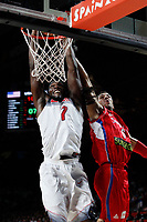 United States´s Faried (L) and Serbia´s Jovic during FIBA Basketball World Cup Spain 2014 final match between United States and Serbia at `Palacio de los deportes´ stadium in Madrid, Spain. September 14, 2014. (ALTERPHOTOSVictor Blanco)