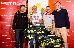 Rok Vodnik, Goran Belic, Aljaz Kos and Marko Umberger at  Petrol VIP tournament 2018, on May 24, 2018 in Sports park Tivoli, Ljubljana, Slovenia. Photo by Vid Ponikvar / Sportida