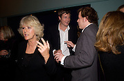 Camilla Parker Bowles, Zac Goldsmith and Tom Parker Bowles, Tom Parker Bowles, Susan Hill and Matthew Rice host party to launch 'E is For Eating' Kensington Place. 3 November 2004.  ONE TIME USE ONLY - DO NOT ARCHIVE  © Copyright Photograph by Dafydd Jones 66 Stockwell Park Rd. London SW9 0DA Tel 020 7733 0108 www.dafjones.com