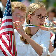 BATH  Maine -- May 28, 2007 -- Lillian Hellman of Phippsburg Elementary School plays in the band as part of the Memorial Day Parade.  Photo by Roger S. Duncan .