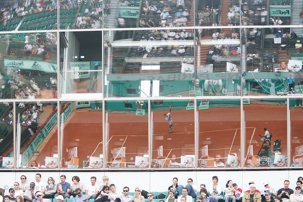 Roland Garros. Paris, France. May 25th 2008..Novak DJOKOVIC against Denis GREMELMAYR....
