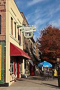 Quaint boutiques and shops in historic Hendersonville, NC