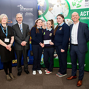 27.04.2016.          <br />  Kalin Foy and Ciara Coyle win SciFest@LIT<br /> Kalin Foy and Ciara Coyle from Colaiste Chiarain Croom to represent Limerick at Ireland's largest science competition.<br /> <br /> St Joseph's Community College students, Niamh Taylor, Ailís McMahon and Sarah Naughton's project, Does your face know what has hit it?, was highly commended in the Life Sciences Category.  Niamh Taylor, Ailís McMahon and Sarah Naughton are pictured with George Porter, SciFest and Brian Aherne, Intel.<br /> <br /> Of the over 110 projects exhibited at SciFest@LIT 2016, the top prize on the day went to Kalin Foy and Ciara Coyle from Colaiste Chiarain Croom for their project, 'To design and manufacture wireless trailer lights'. The runner-up prize went to a team from John the Baptist Community School, Hospital with their project on 'Educating the Youth of Ireland about Farm Safety'. Picture: Alan Place