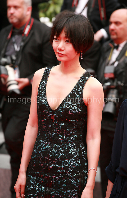 Doona Bae, at the Foxcatcher gala screening red carpet at the 67th Cannes Film Festival France. Monday 19th May 2014 in Cannes Film Festival, France.