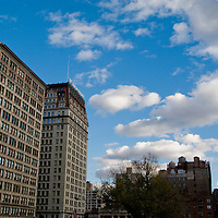 Buildings that surround Union Square Park in midtown Manhattan.