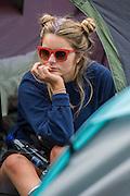 Micky mouse hair do is very popular - The 2016 Glastonbury Festival, Worthy Farm, Glastonbury.