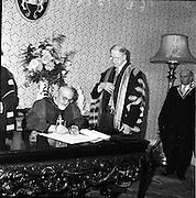23/ 06/1961.06/23/1961.23 June 1961.Patrician Year celebrations: Cardinal Legate Grégoire-Pierre Agagianian recieves degrees at Dublin Castle.