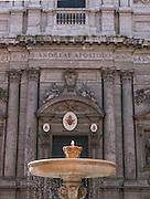 Fountain in front of Sant' Andrea Della Valle, Rome Italy.