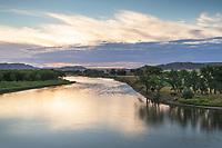 Sunset on the Missouri River nearJudith Landing, Upper Missouri Breaks National Monument Montana