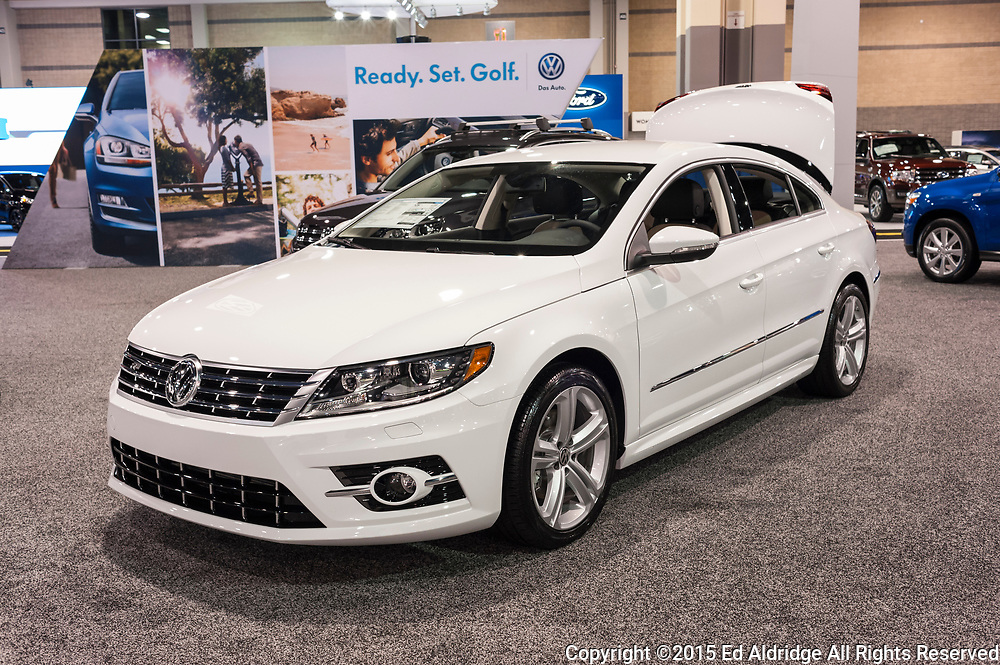 CHARLOTTE, NC, USA - November 11, 2015: Volkswagen CC R-Line on display during the 2015 Charlotte International Auto Show at the Charlotte Convention Center in downtown Charlotte.