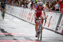 July 23, 2017 - Seraing, BELGIUM - Russian Viacheslav Kuznetsov of Katusha-Alpecin arrives in the second stage of the 38th edition of the Tour de Wallonie (Ronde van Wallonie), 191,5km from Chaudfontaine to Seraing, Sunday 23 July 2017. This year's edition of the Tour de Wallonie takes plave from 22 to 26 July. BELGA PHOTO LUC CLAESSEN (Credit Image: © Luc Claessen/Belga via ZUMA Press)