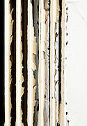 old rusty radiator, detail
