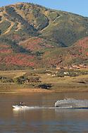 water skiing or wakeboarding on Jordanelle Reservoir, Utah
