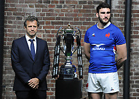 Rugby Union - 2020 Guinness Six Nations Launch Press Conference - Tobacco Dock, London<br /> <br /> France coach, Fabien Galthie and Captain, Men's Captain<br /> Charles Ollivon of Italy <br /> <br /> COLORSPORT/ANDREW COWIE