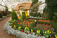 Domed conservatory, Lewis Ginter Botanical Garden, Richmond, Virginia USA