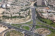 Iran , Tehran. elevated view of Tehran, Urban highway/ Teheran vue aerienne autoroute urbaine