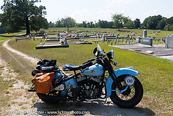 CCC event promoter Jason Sims' 1946 Harley-Davidson Model U Flathead in his Cross Country Chase motorcycle endurance run from Sault Sainte Marie, MI to Key West, FL. (for vintage bikes from 1930-1948). Stage-6 from Chattanooga, TN to Macon, GA USA covered 258 miles. Wednesday, September 11, 2019. Photography ©2019 Michael Lichter.
