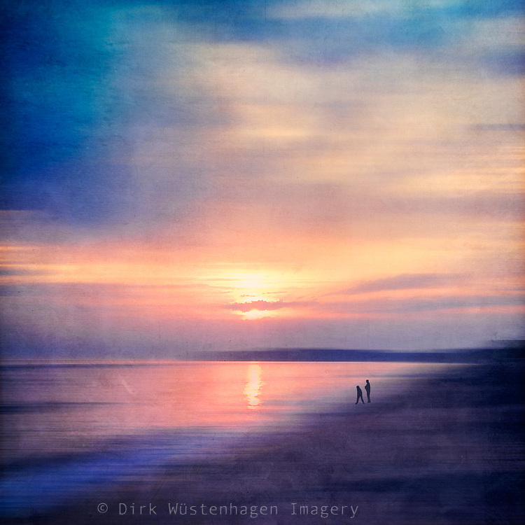 evening stroll at the beach - abstract photography