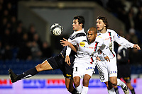 FOOTBALL - FRENCH CHAMPIONSHIP 2009/2010 - L1 - GIRONDINS BORDEAUX v US BOULOGNE - 30/01/2010 - PHOTO ERIC BRETAGNON / DPPI -YOANN GOURCUFF (BOR) / HABIB BELLAID (BOU)