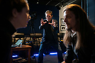 May 12, 2021. Sherman Oaks, California. Hollywood Casting Director, Matthew Barry, at his Sherman Oaks studio. Pictured is Mattew working with Adam William Zastrow and Jackie Brooke.<br /> copyright John Chapple / www.JohnChapple.com