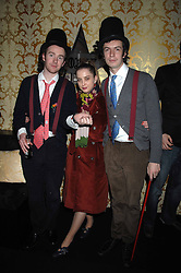 Left to right, PHILIP COLBERT and RICH ASCOTT of fashion label Rodnik in the Moet & Chandon Room at British Fashion Week at the Natural History Museum on 14th February 2007.<br /><br />NON EXCLUSIVE - WORLD RIGHTS