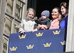 April 30, 2017 - Stockholm, Sweden - Princess Estelle, Prince Oscar, Crown Princess Victoria, Queen Silvia,..The King's birthday, Royal Palace, Stockholm, 2017-04-30..Mattias Hansson / IBL....Kungens födelsedag, Kungliga slottet, Stockholm, 2017-04-30 (Credit Image: © Aftonbladet/IBL via ZUMA Wire)
