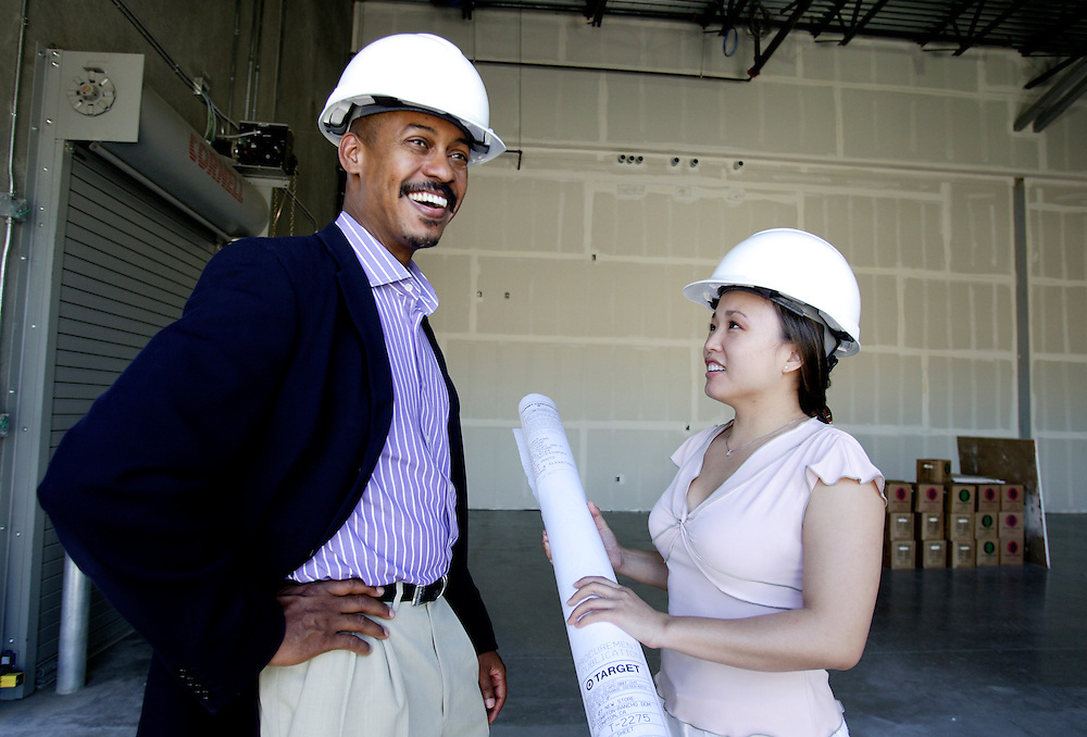Part of the Target Corporation's ad shoot highlighting minority involvement in a store's building process.
