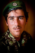 An Afghan National Army soldier.