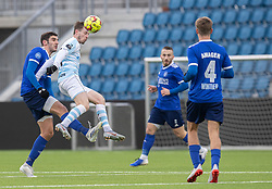 Nemanja Cavnic (Fremad Amager) og Nicolas Mortensen (FC Helsingør) under træningskampen mellem FC Helsingør og Fremad Amager den 18. januar 2020 på Helsingør Ny Stadion (Foto: Claus Birch)