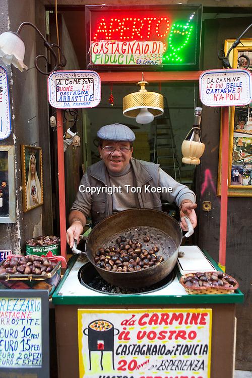 walnuts street vendor in via del tribunale.