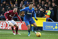 AFC Wimbledon attacker Harry Forrester (11) dribbling during the EFL Sky Bet League 1 match between AFC Wimbledon and Northampton Town at the Cherry Red Records Stadium, Kingston, England on 10 February 2018. Picture by Matthew Redman.