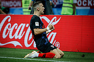 Ivan Perisic of Croatia celebrates after his 1-1 equalizing goal during the 2018 FIFA World Cup Russia, semi-final football match between Croatia and England on July 11, 2018 at Luzhniki Stadium in Moscow, Russia - Photo Thiago Bernardes / FramePhoto / ProSportsImages / DPPI