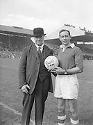 Presentation of game ball at the All Ireland Senior Football Championship Final, Armagh v Kerry in Croke Park on 27th September 1953, Kerry 0-13, Armagh 1-06.